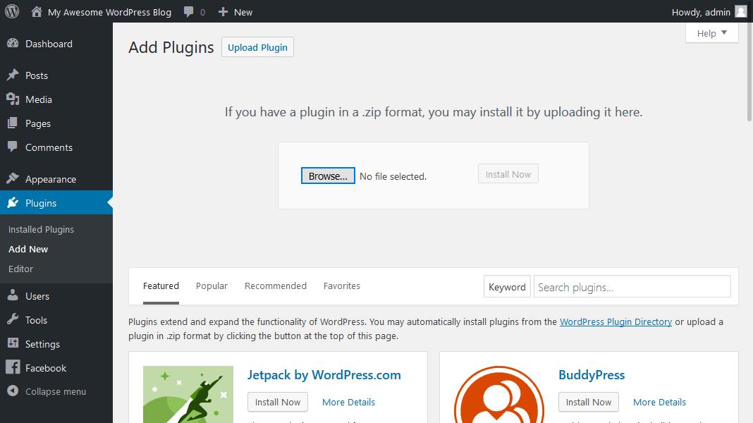 WordPress插件手动安装